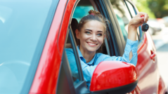 Žena v autě - ilustrační foto