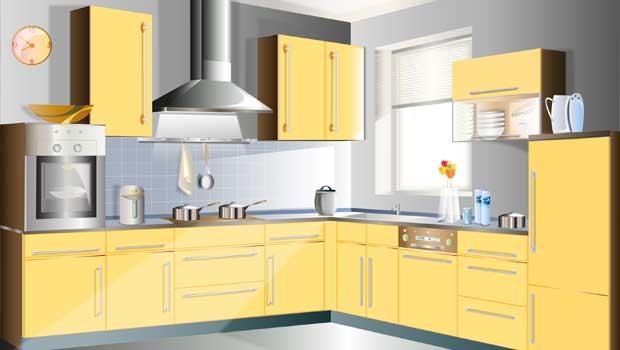 Půjčka na žlutou kuchyňkou linku