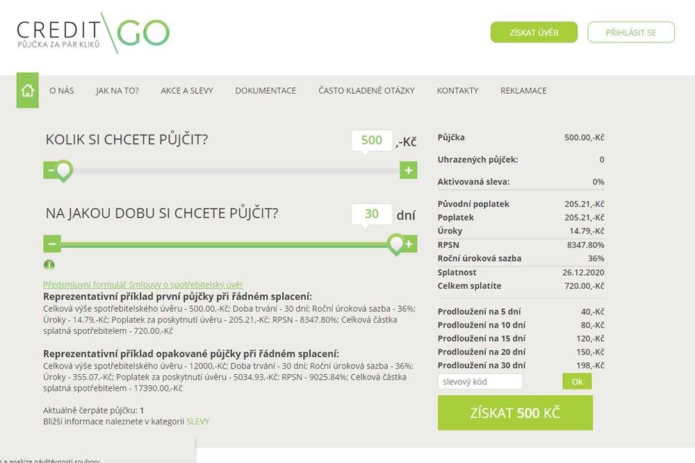 Naše recenze CreditGo půjčky