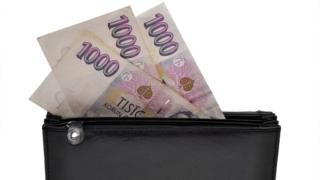 Peníze v peněžence - nebankovní společnost - ilustrační foto