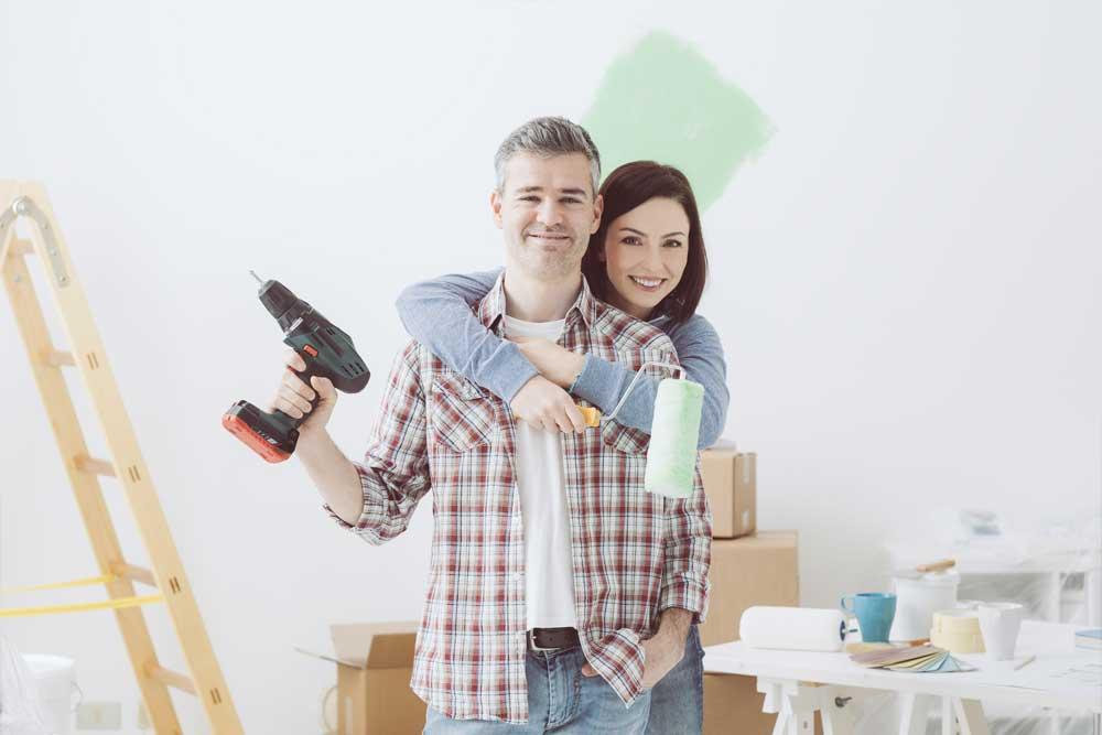 Probíhající rekonstrukce bytu