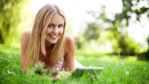 Spokojená žena - ilustrační foto